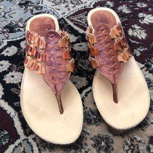 Leather sandal flip flop